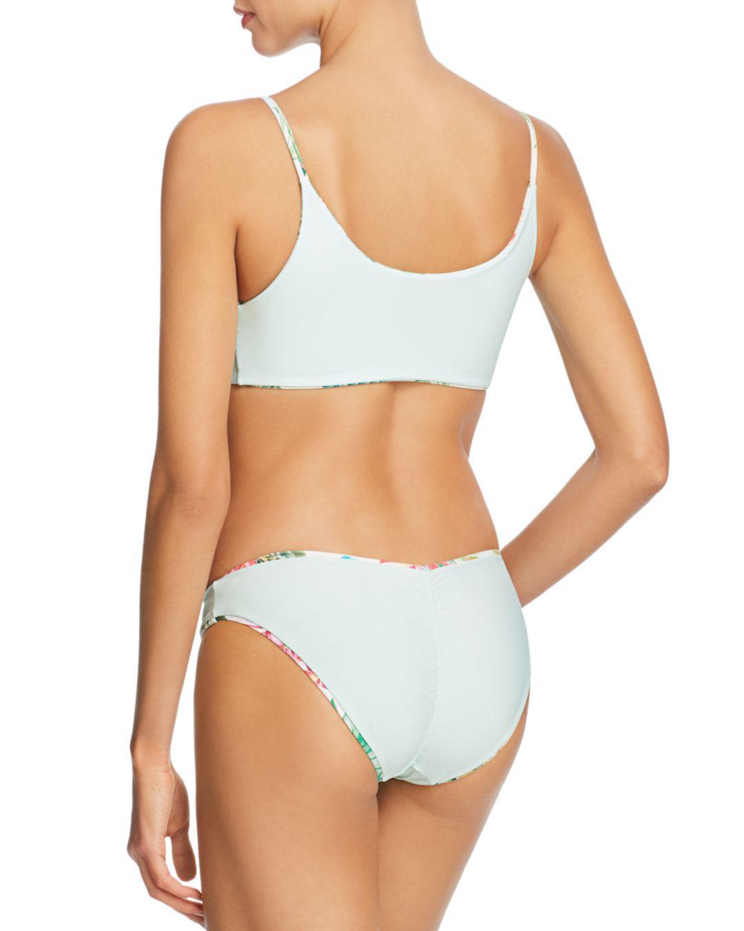 0699809fd5af1 Pilyq - Green Tulum Basic Reversible Andrea Tie Bikini Top - Lyst. View  fullscreen