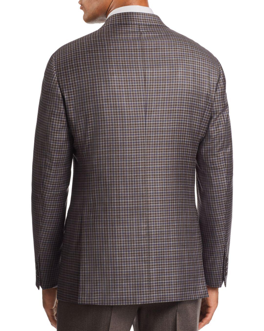 sale retailer 827ee ba790 Lyst - Armani Emporio G-link Check-print Tailored Fit Jacket in ...