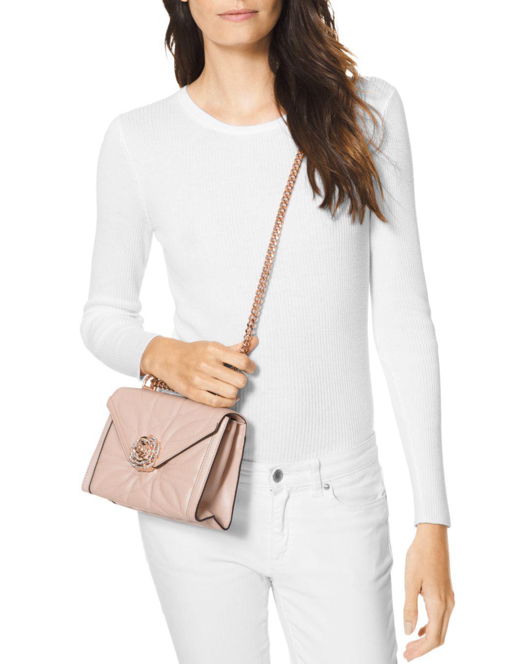 8ac2706de0e4 Lyst - MICHAEL Michael Kors Whitney Leather Convertible Shoulder Bag in Pink