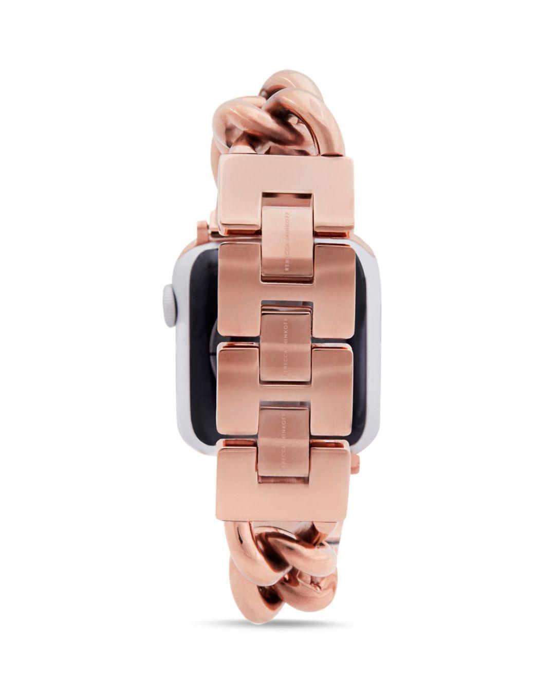 Rebecca Minkoff Curb Link Apple Watch Bracelet Lyst
