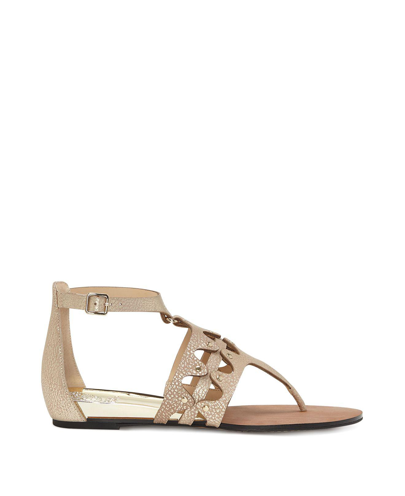 Vince Camuto Women's Arlanian Leather Cutout Demi Wedge Sandals a0V9J3