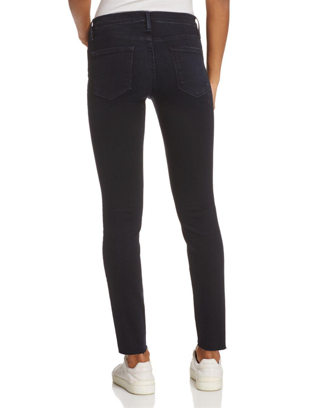 FRAME Denim Le Skinny De Jeanne Jeans In Manor Boulevard in Black