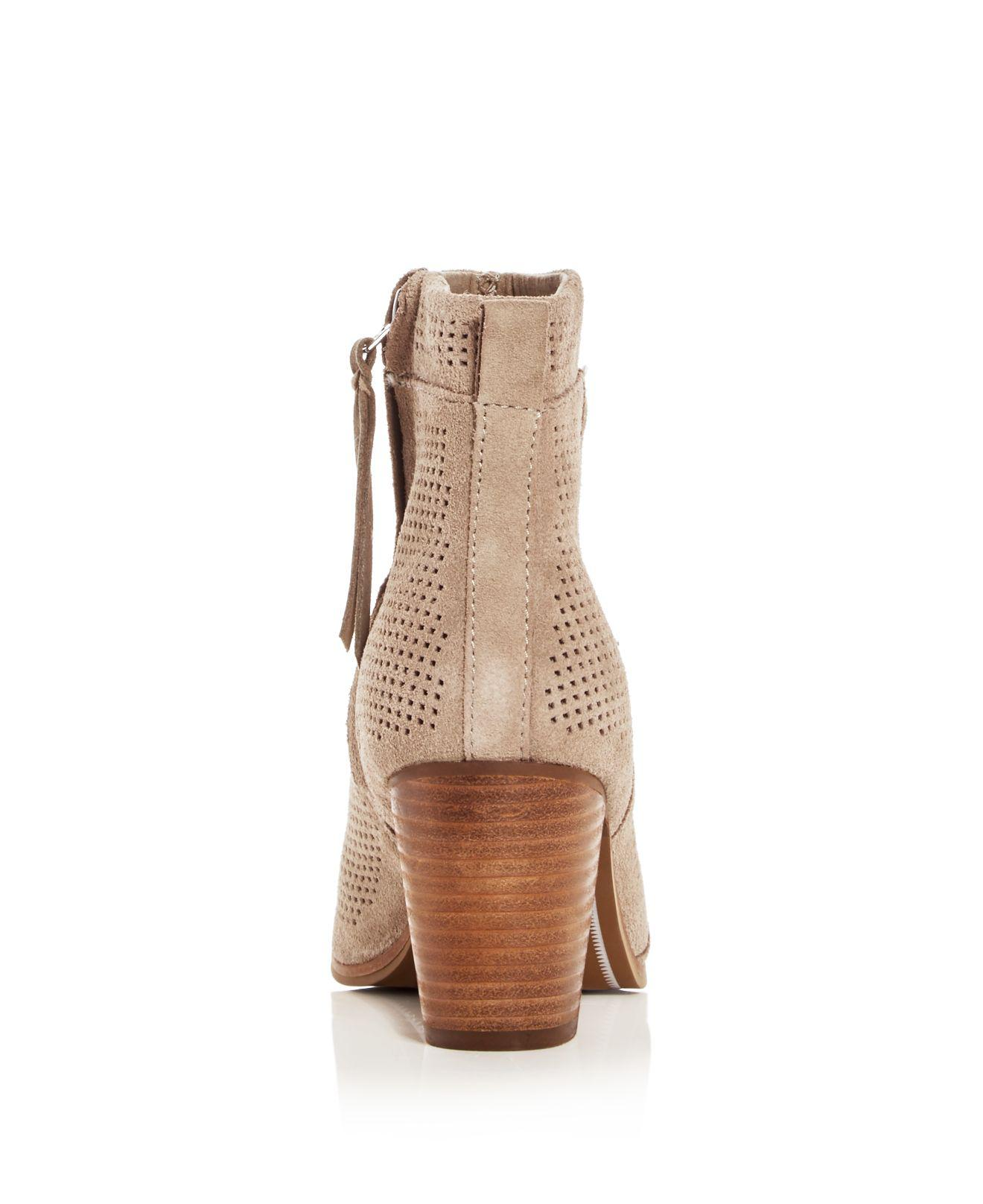 Lyst Toms Women S Lunata Perforated High Heel Booties In