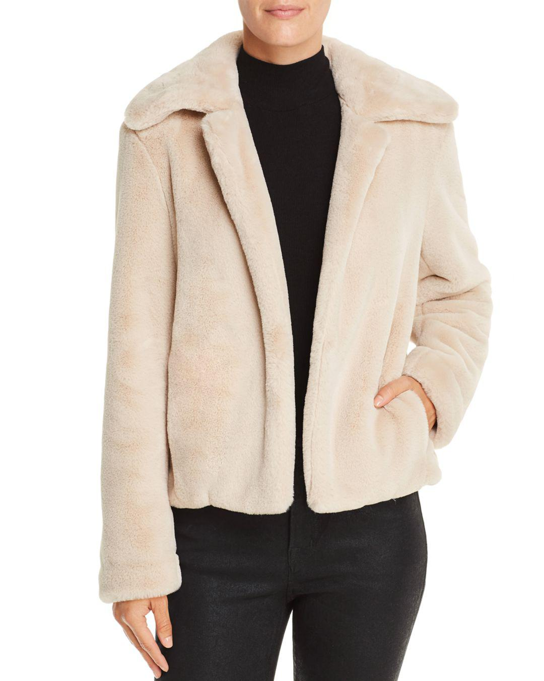 e446d9f11c Lyst - Theory Luxe Faux-fur Jacket in Natural - Save 25%