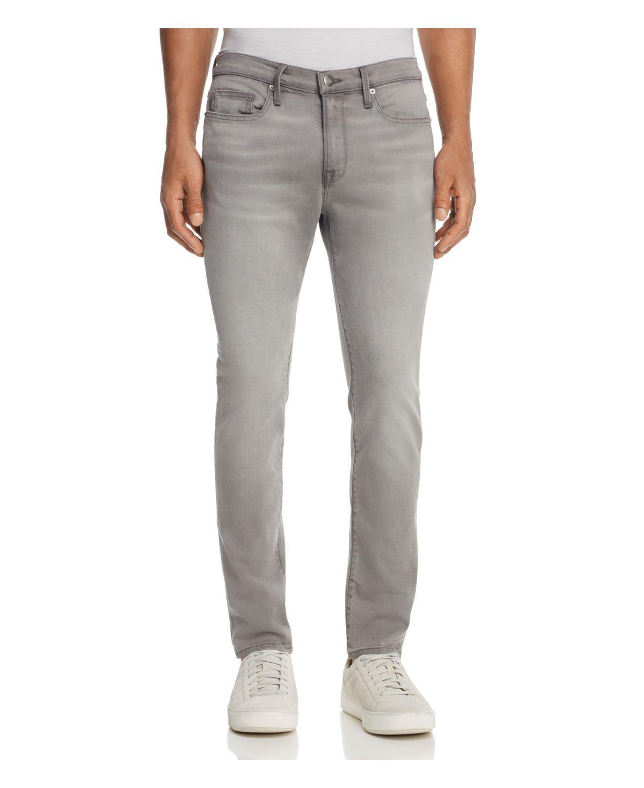 lyst frame l 39 homme skinny fit jeans in vineway in gray for men. Black Bedroom Furniture Sets. Home Design Ideas