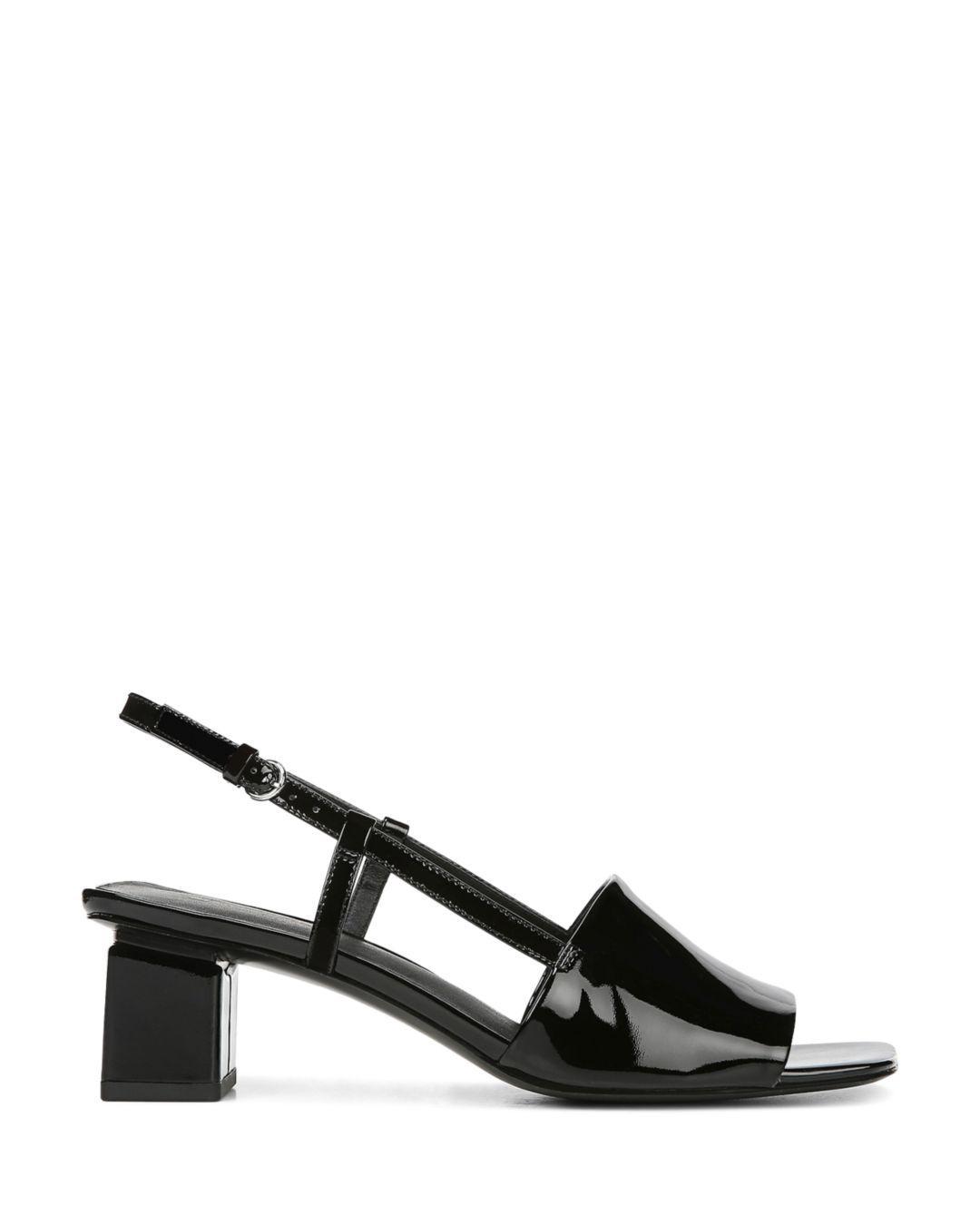 9c6eee0b4800 Lyst - Via Spiga Women s Florian Block Heel Slingback Sandals in Black