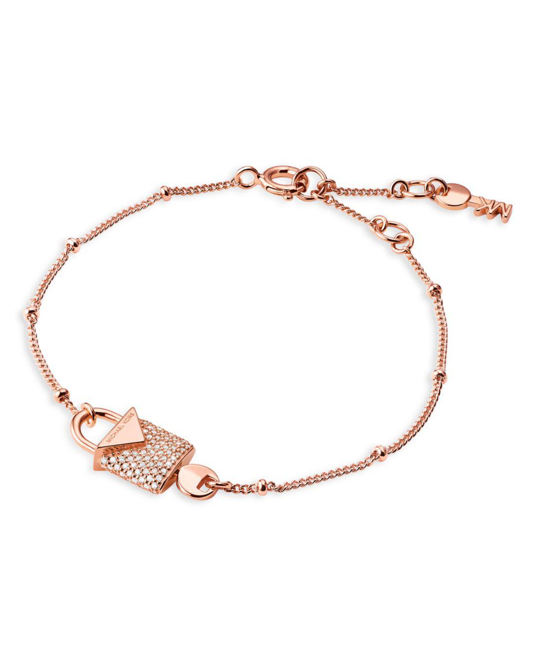 0ceabae9bf60 Michael Kors - Metallic 14k Rose Gold-plated Sterling Silver Or Solid  Sterling Silver -. View fullscreen