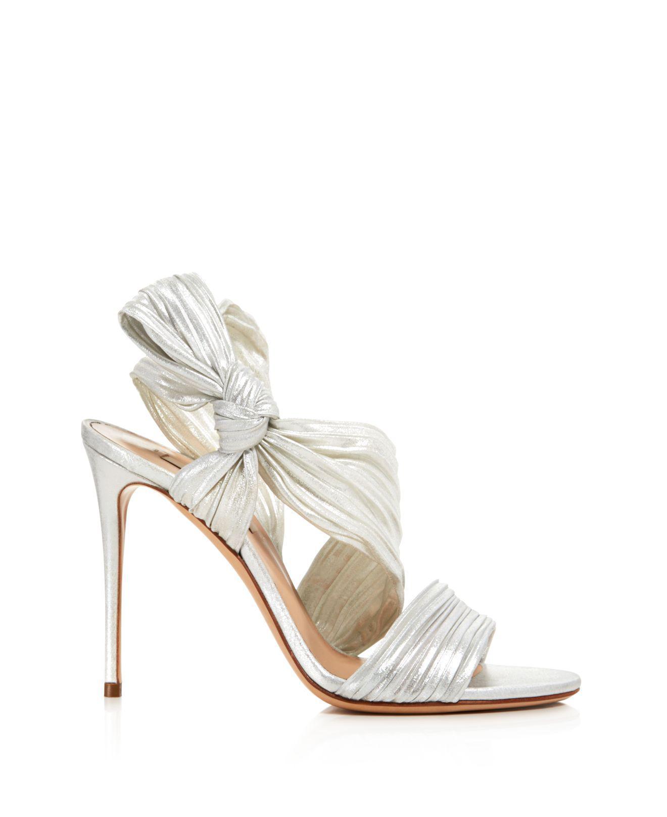 Casadei Women's Marissa Pleated Satin High-Heel Sandals VHAqrrcE