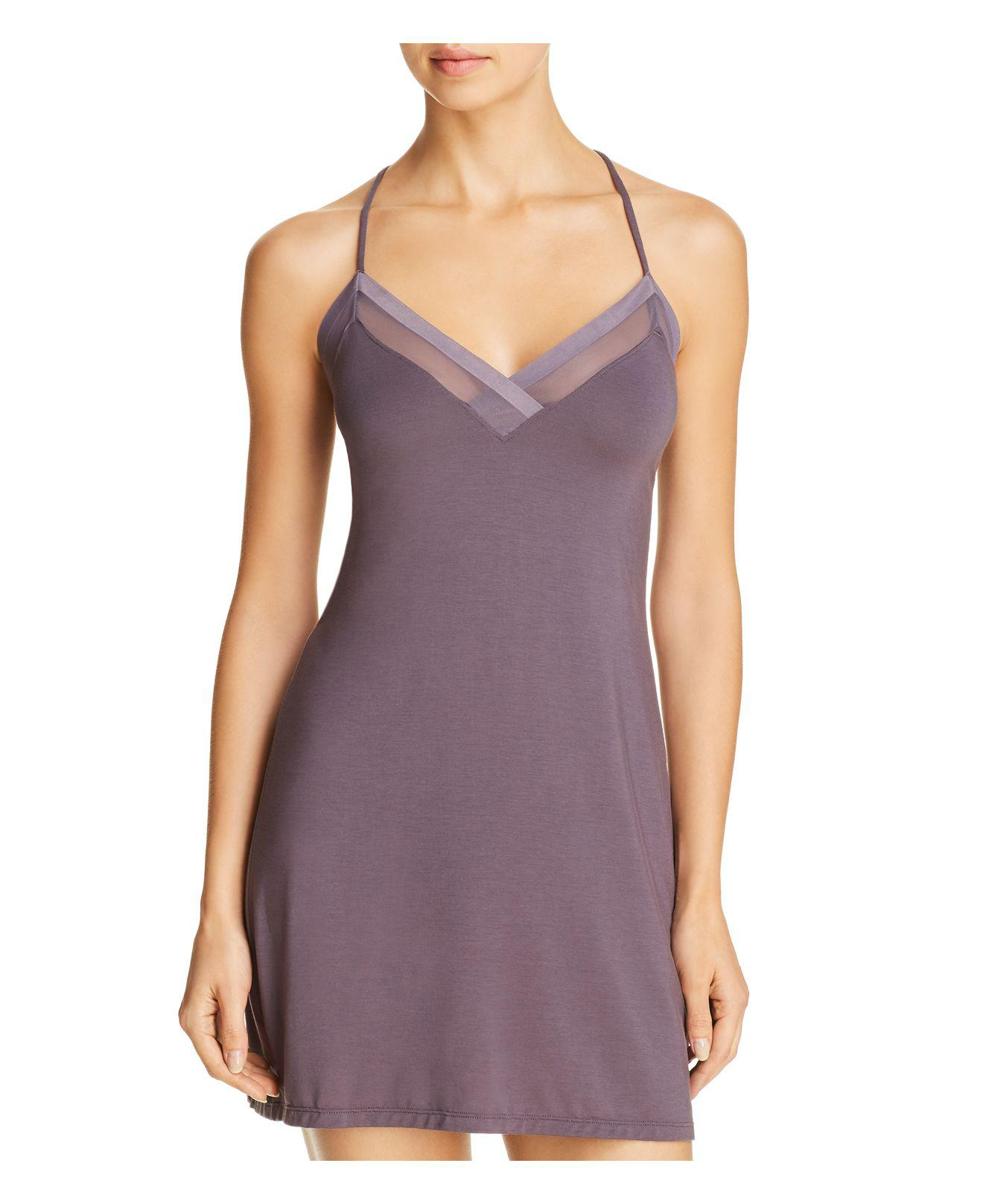 lyst calvin klein sculpted chemise in purple. Black Bedroom Furniture Sets. Home Design Ideas