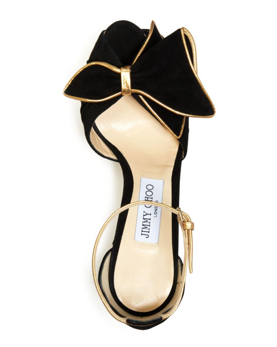77aaaa7365 Jimmy Choo Women's Karlotta 100 High-heel Sandals in Black - Lyst