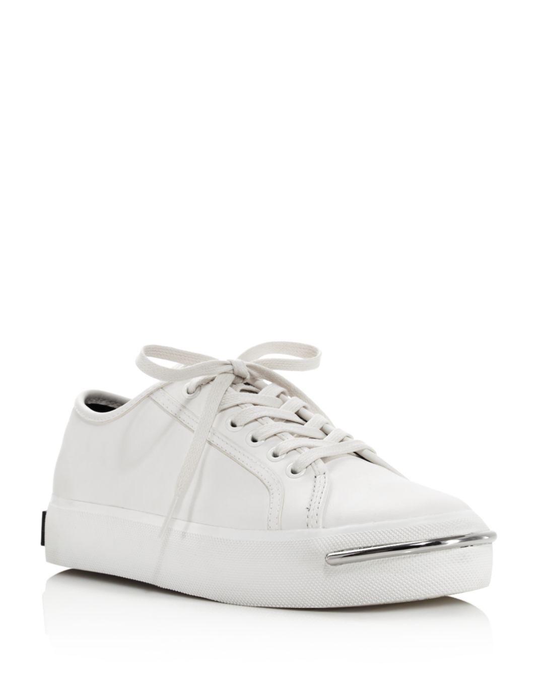 Lyst Wang Low Platform Alexander Sneakers Top Pia Leather Women's DIW2HE9