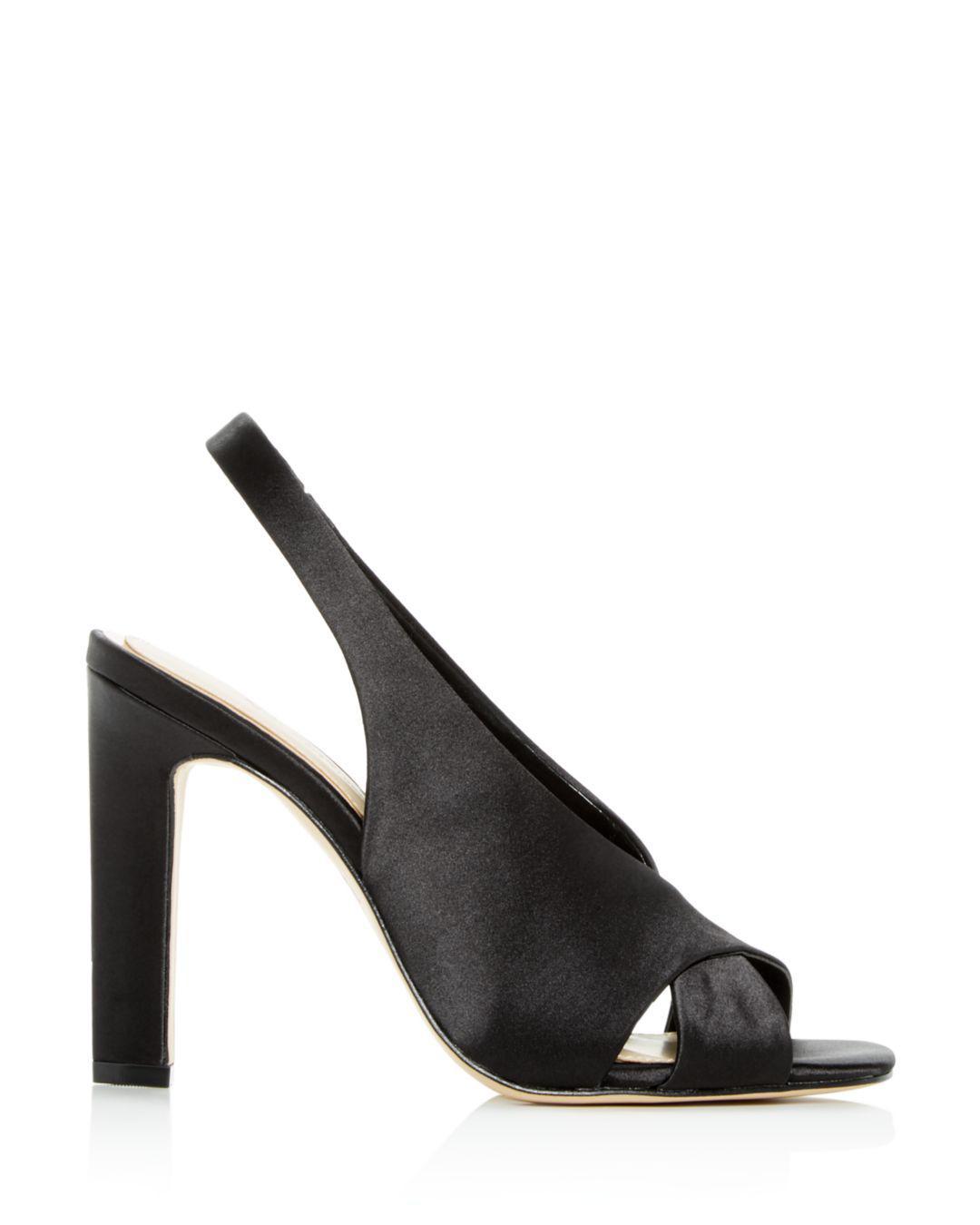d16613fb58f Lyst - Imagine Vince Camuto Women s Wrennie Slingback High-heel Sandals in  Black - Save 40%