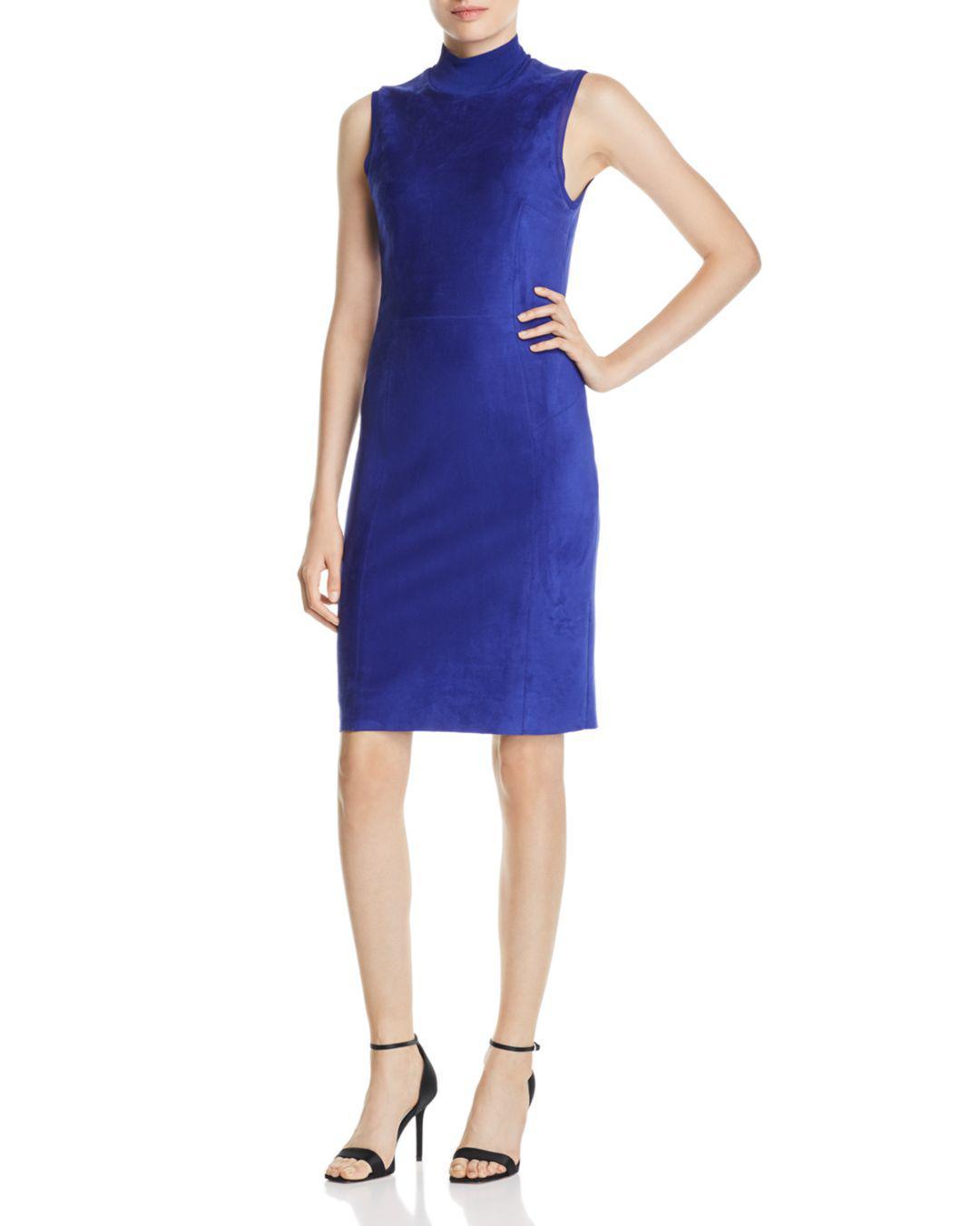 bff63e83 Lyst - Elie Tahari Londynn Faux-suede Sheath Dress in Blue