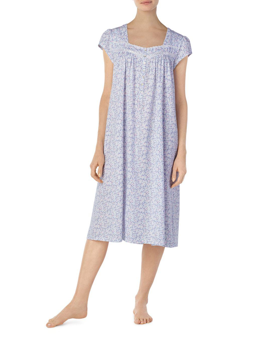 0081512d98 Lyst - Eileen West Cap Sleeve Ballet Nightgown in Blue - Save 43.75%