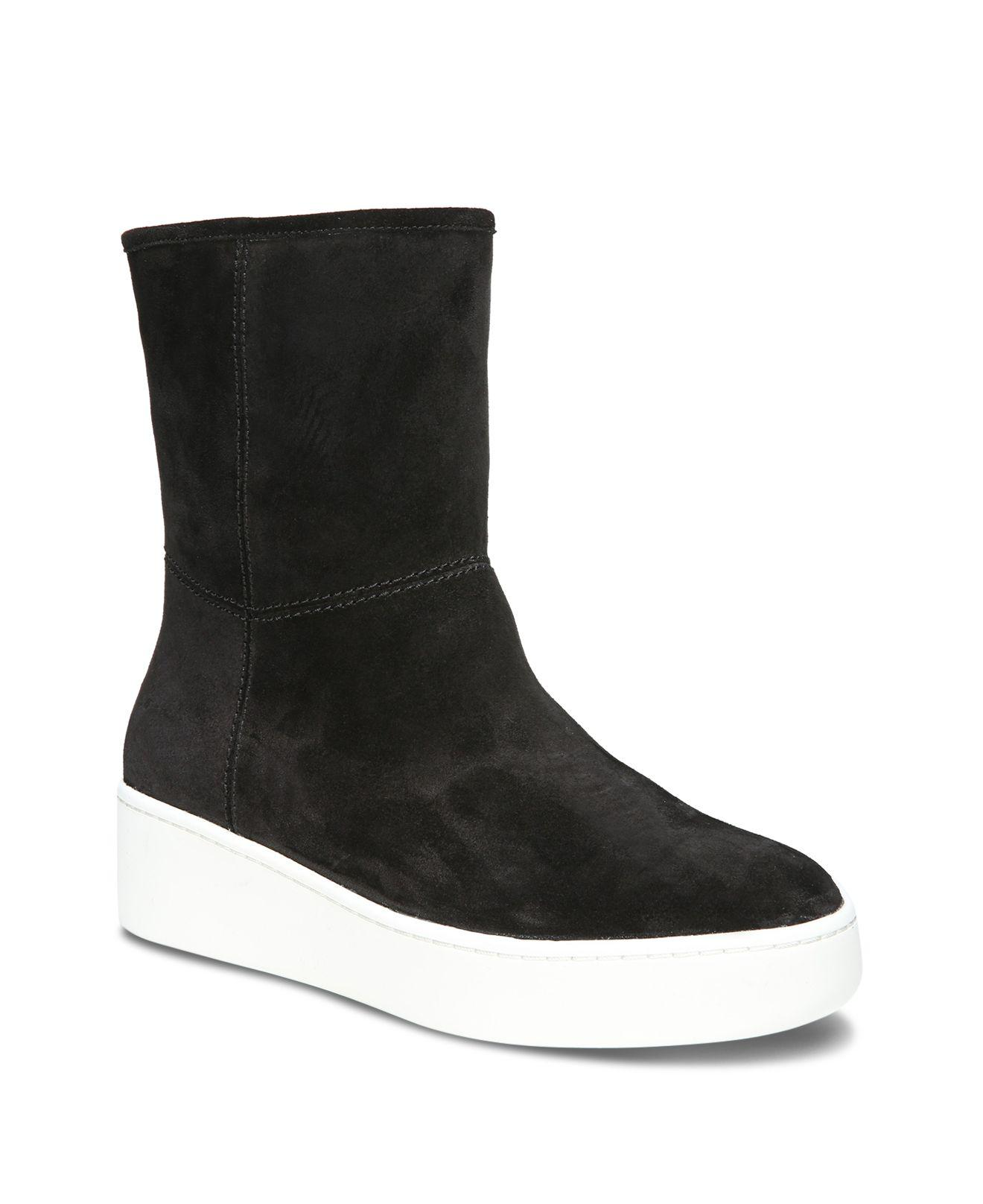Via Spiga Women's Elona Suede & Fur Platform Sneaker Boots OzqVg4
