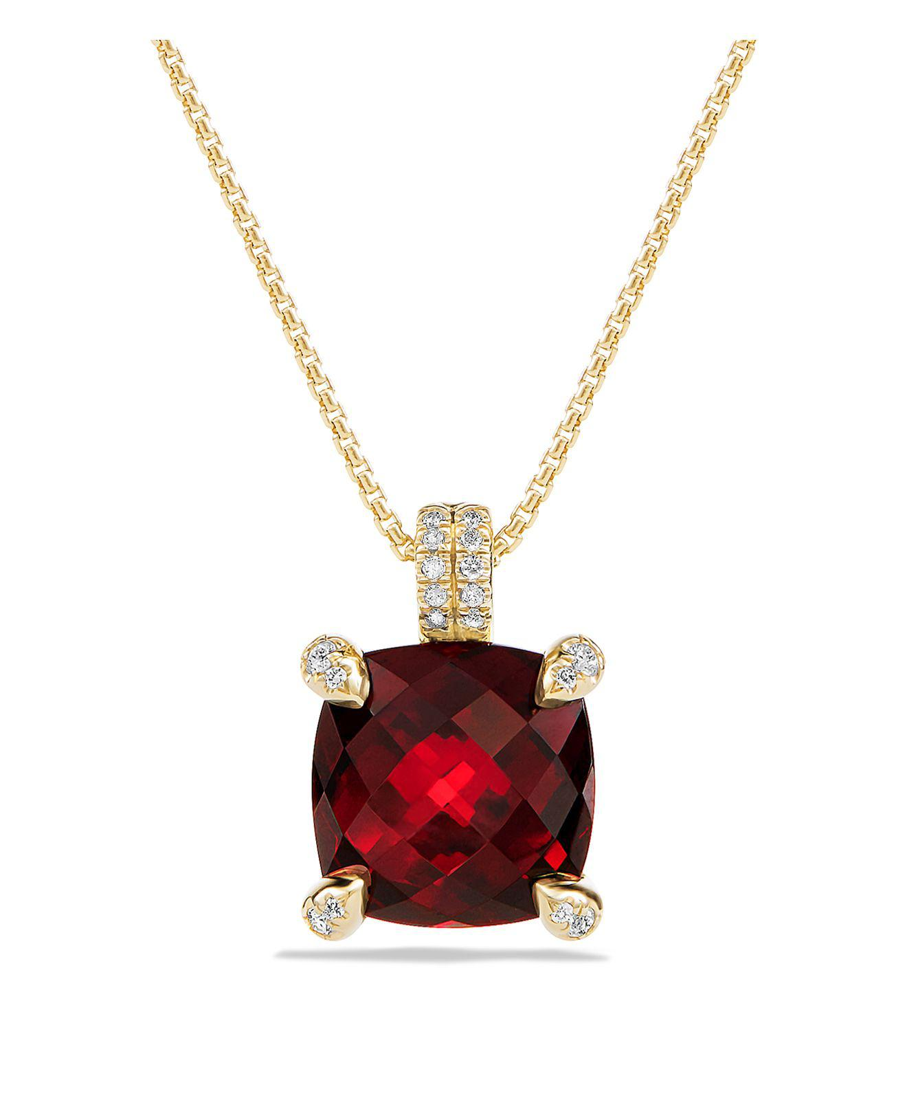 drop pin gold in pear yellow garnet drops necklace red