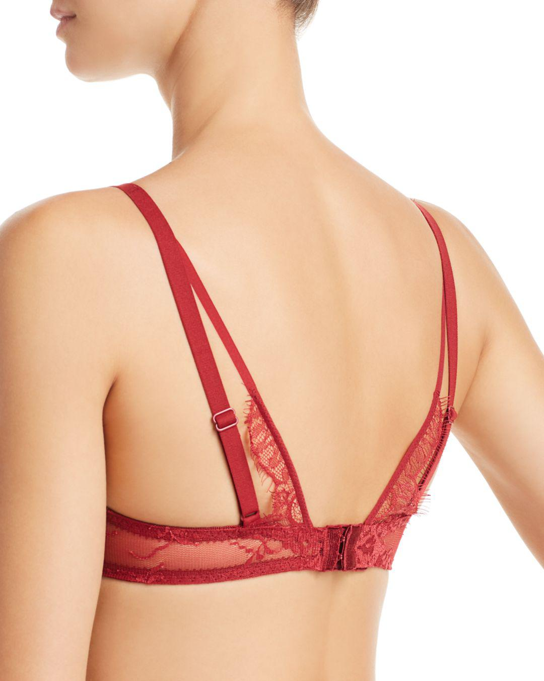 3d0d64bc69 Chantelle Gloria Lace Mesh Underwire Bra in Red - Save 55.55555555555556% -  Lyst