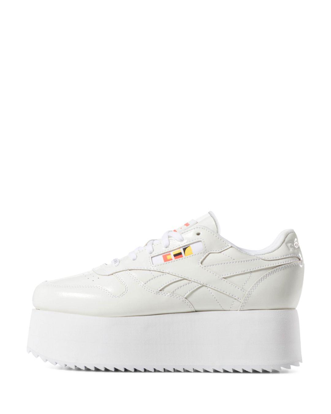 ed61de7df47 Reebok. White X Gigi Hadid Women s Classic Leather Triple Platform Sneakers