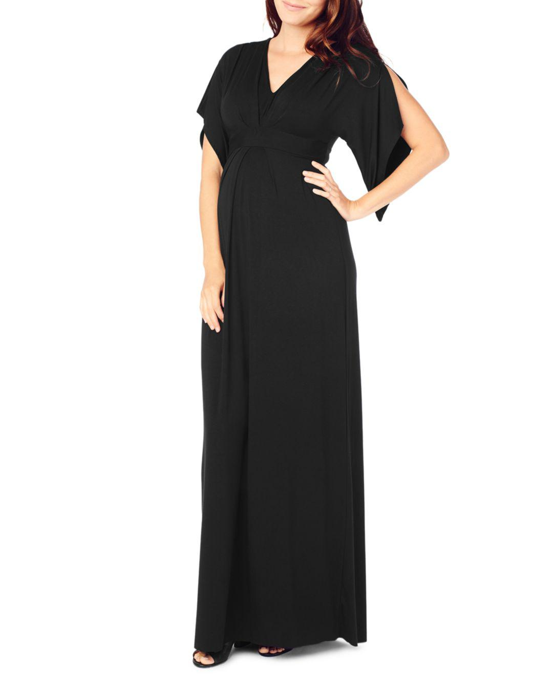 fae7d1ef1b33a Lyst - Ingrid & Isabel Maternity Kimono Maxi Dress in Black - Save 62%
