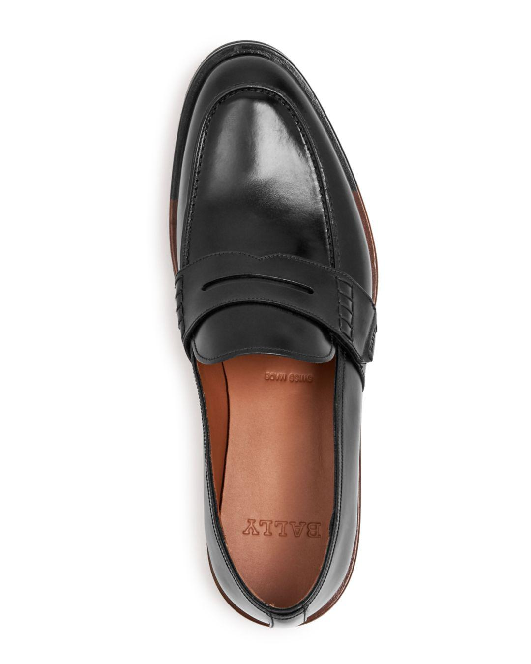 72103fd4dc4 Bally Men s Barox Leather Apron-toe Penny Loafers in Black for Men - Lyst