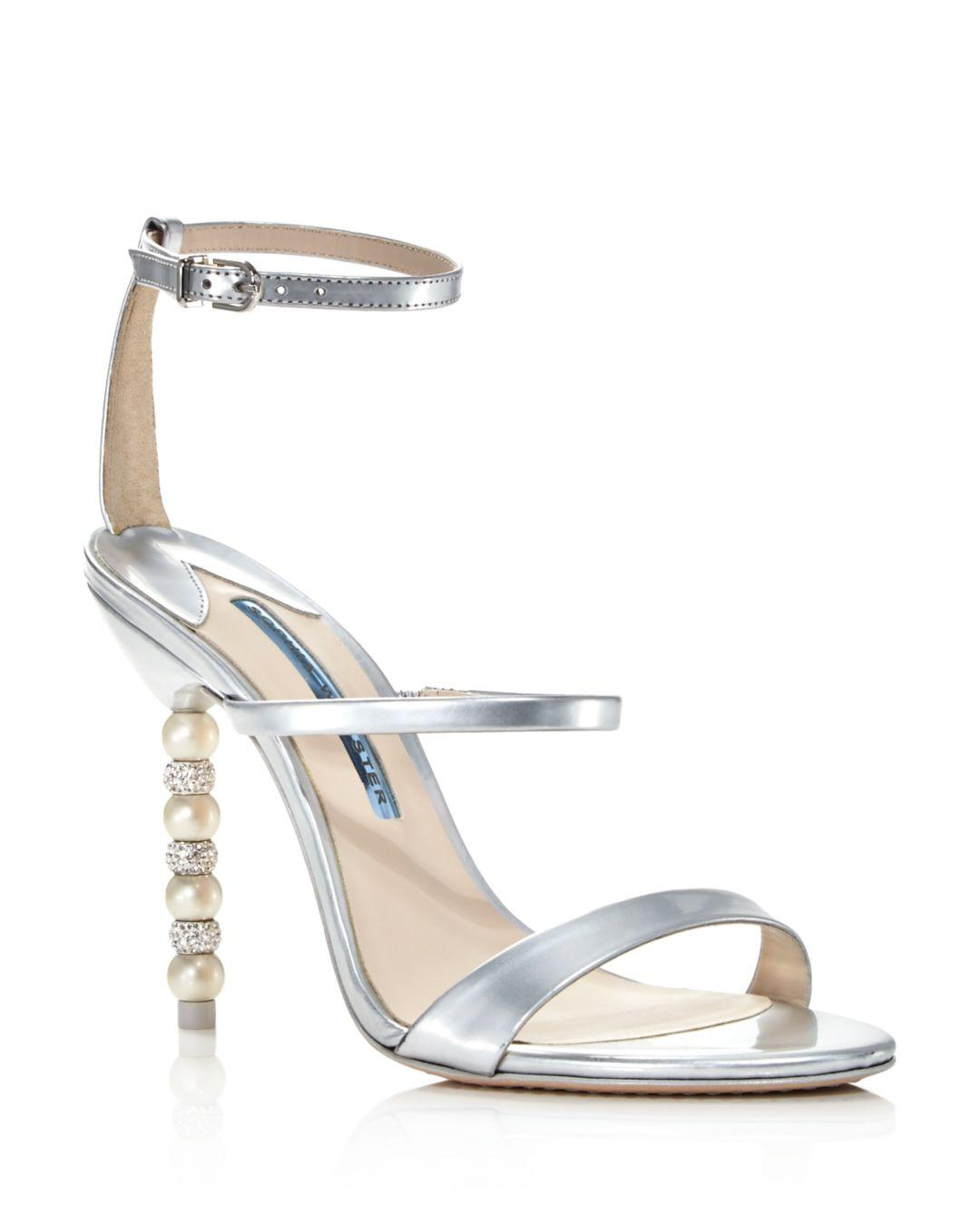 d742d0909 Sophia Webster. Metallic Women s Rosalind Crystal   Pearl Embellished  High-heel Sandals