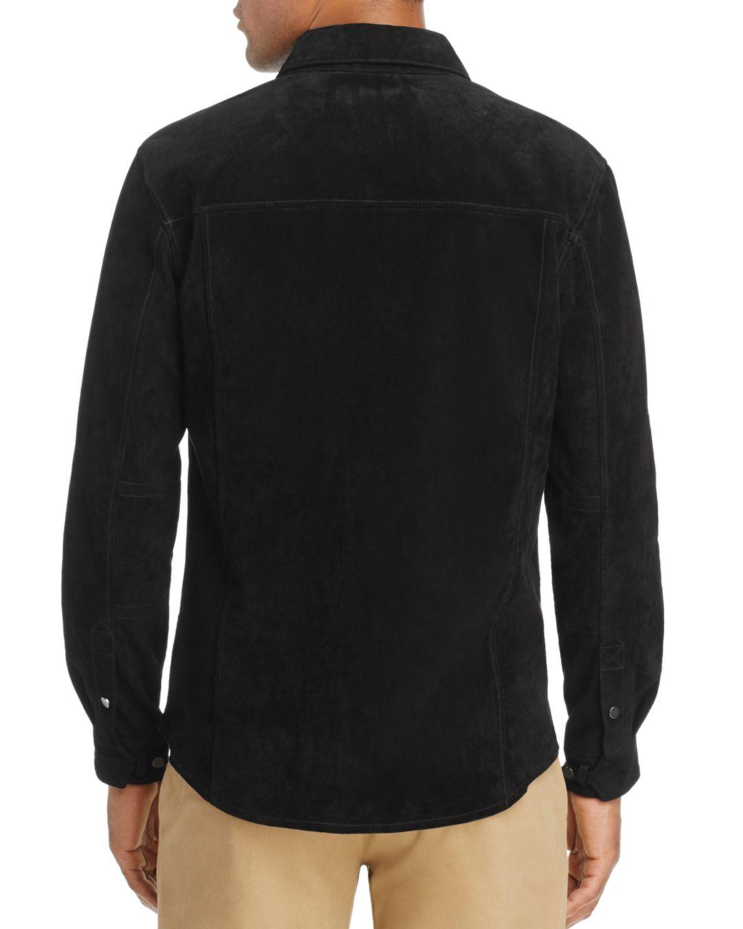 Blank NYC Blank Nyc Suede Shirt Jacket in Black for Men