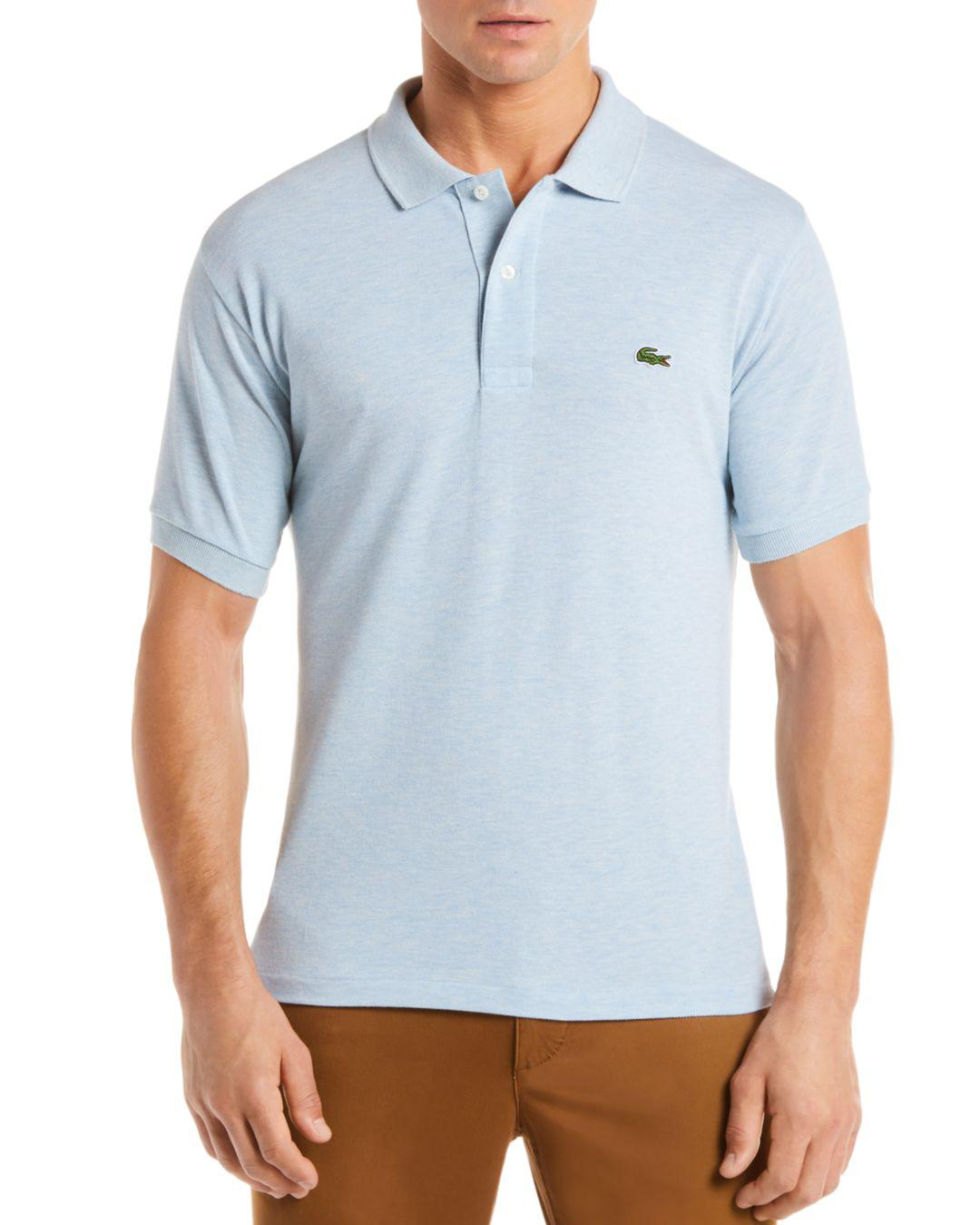 4f948938d Lacoste Pique Polo - Classic Fit in Blue for Men - Lyst