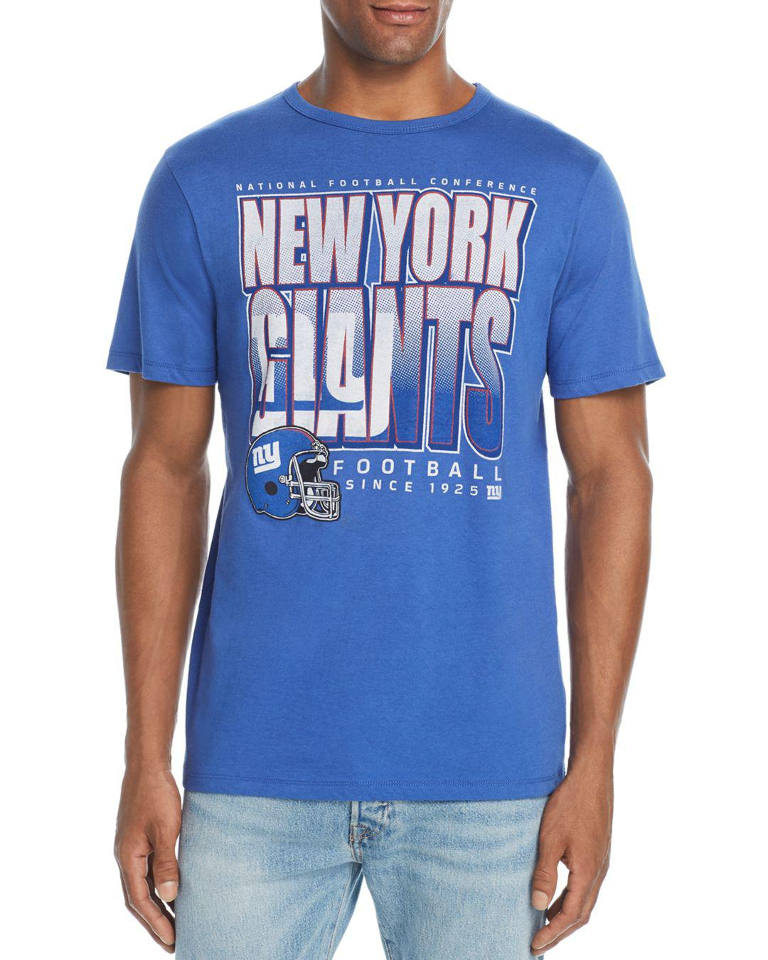 2c96dd938 Junk Food New York Giants Classic Graphic Tee in Blue for Men - Lyst