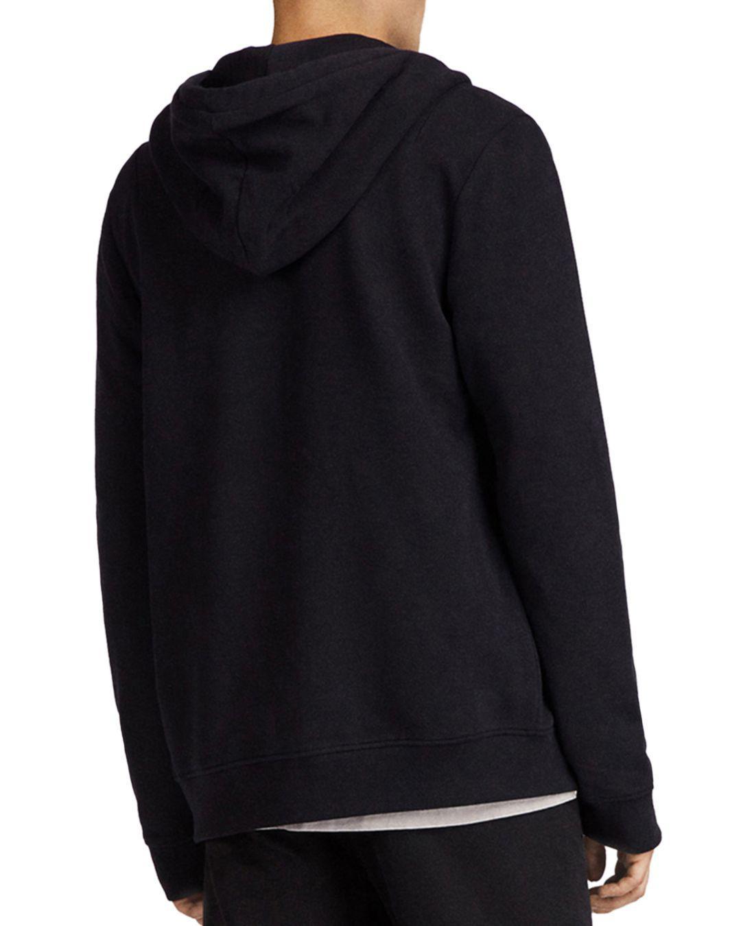 AllSaints Raven Hoodie in Black for Men