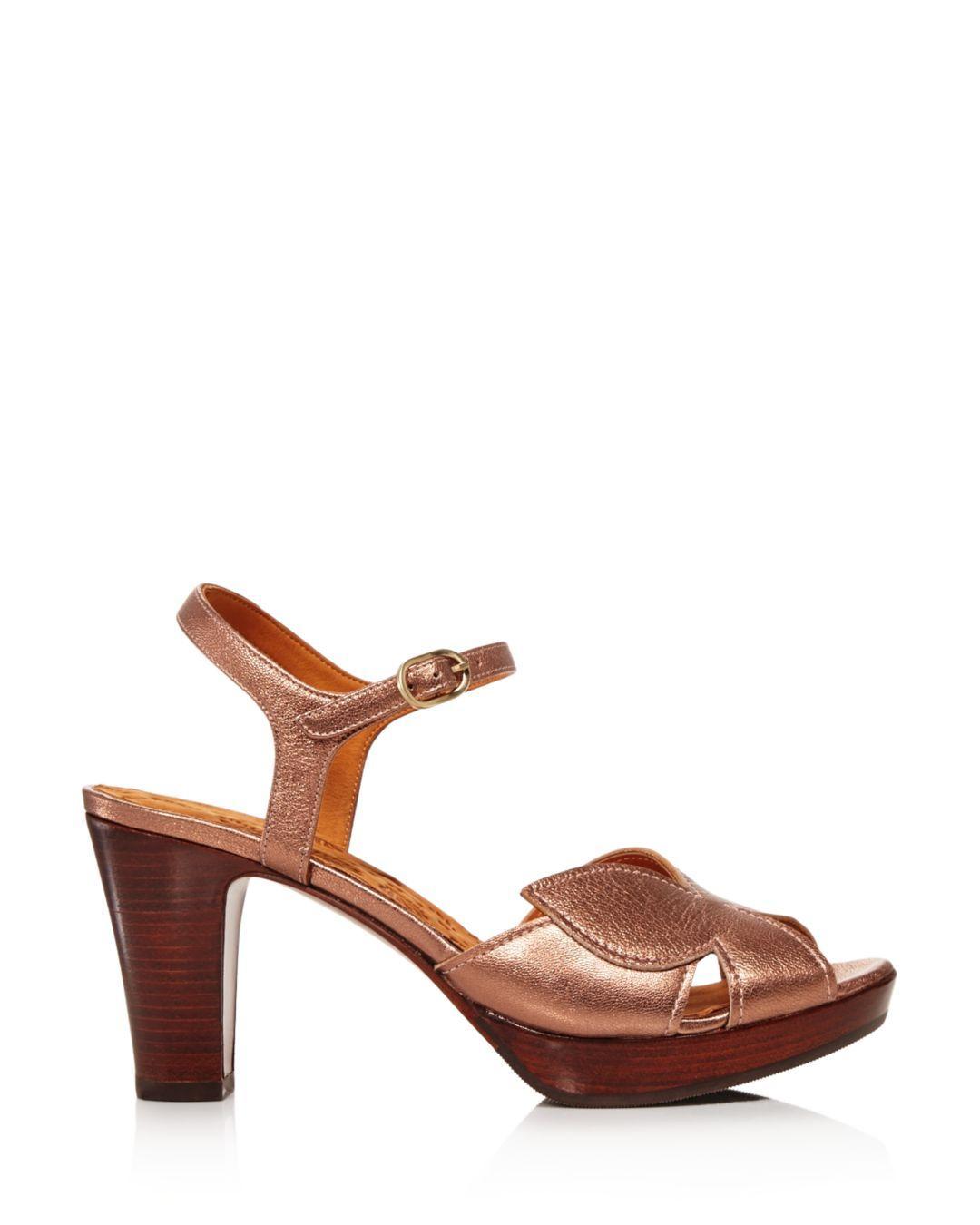 d6e35e96984 Lyst - Chie Mihara Women s Posh Chunky Heel Metallic Sandals in Brown