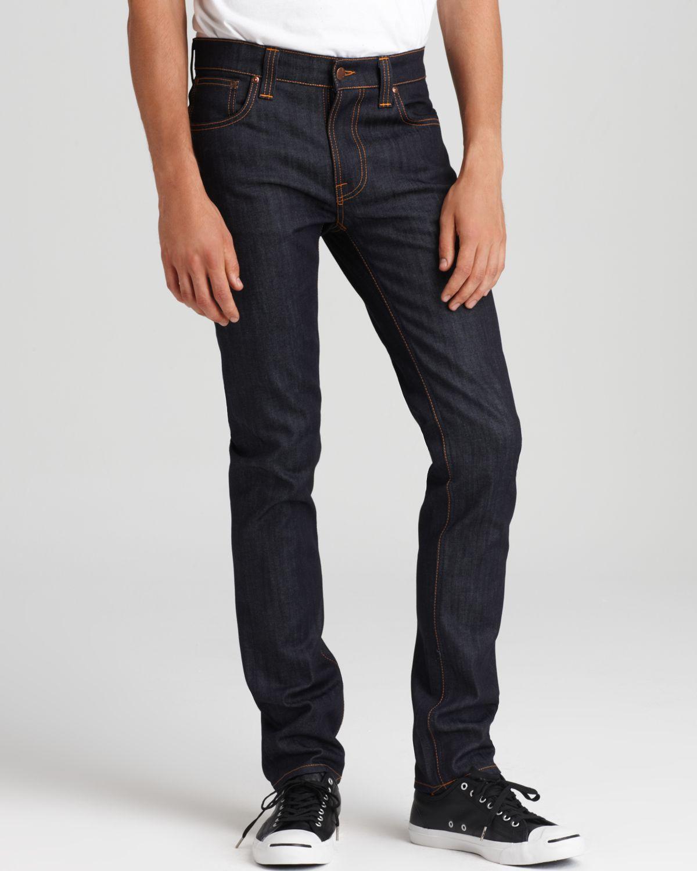 nudie jeans thin finn slim fit jeans in organic dry ecru. Black Bedroom Furniture Sets. Home Design Ideas
