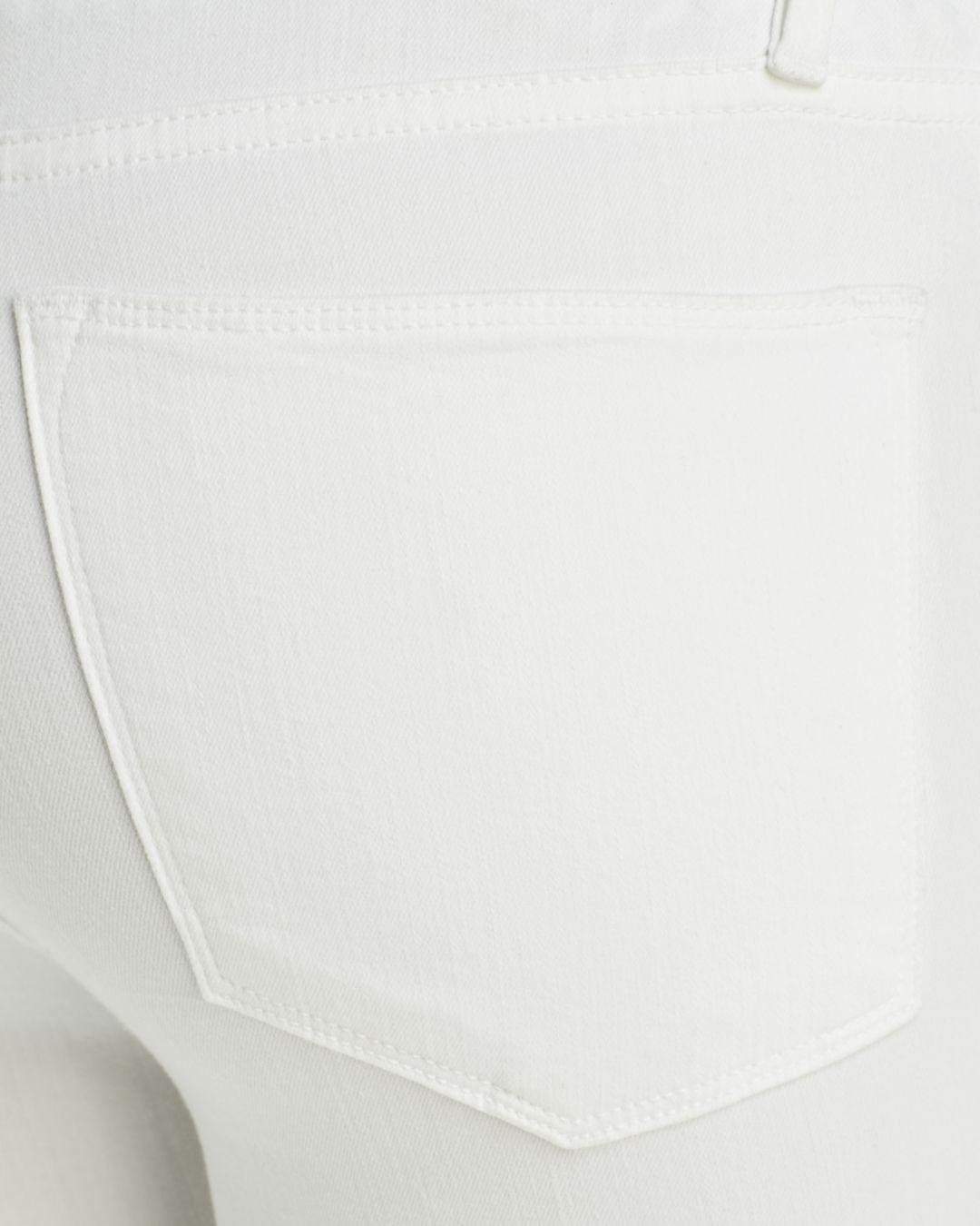 FRAME Denim Le High Shredded Raw-edge Skinny Jeans In Blanc in White