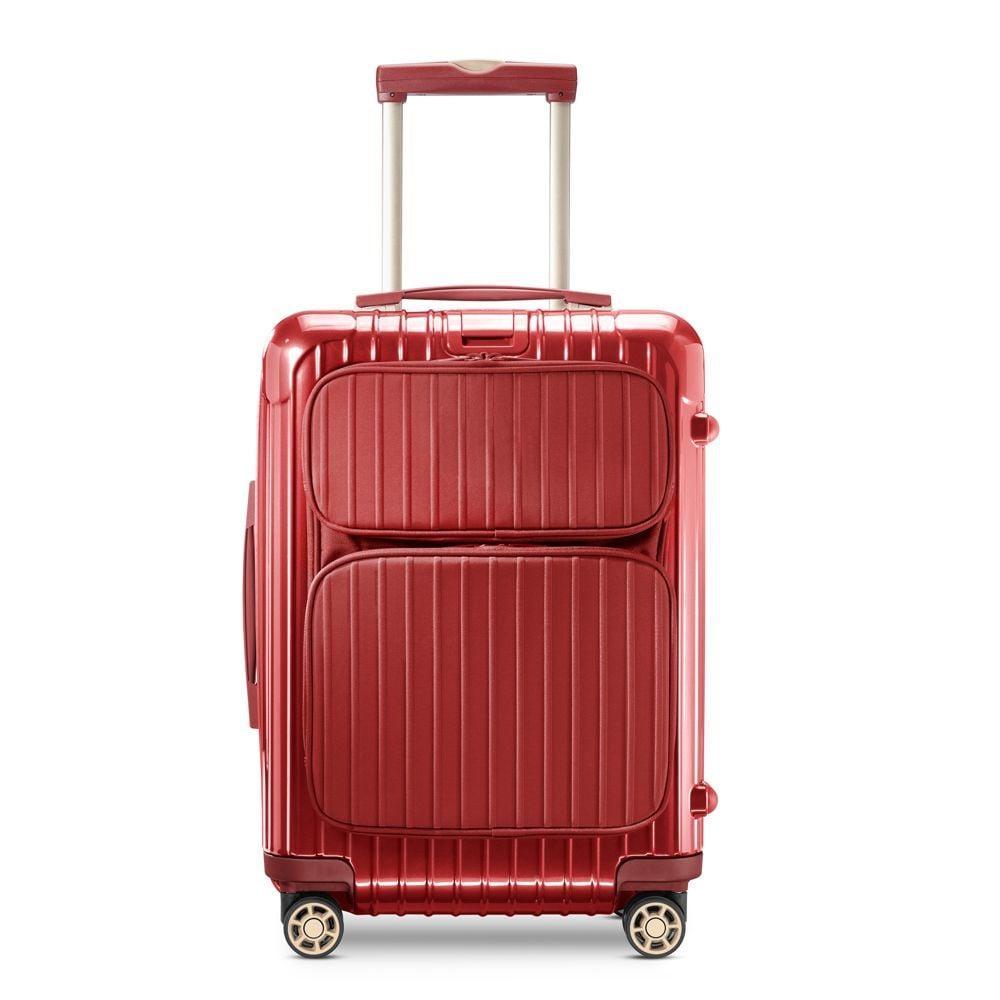 rimowa salsa deluxe cabin multiwheel hybrid in red