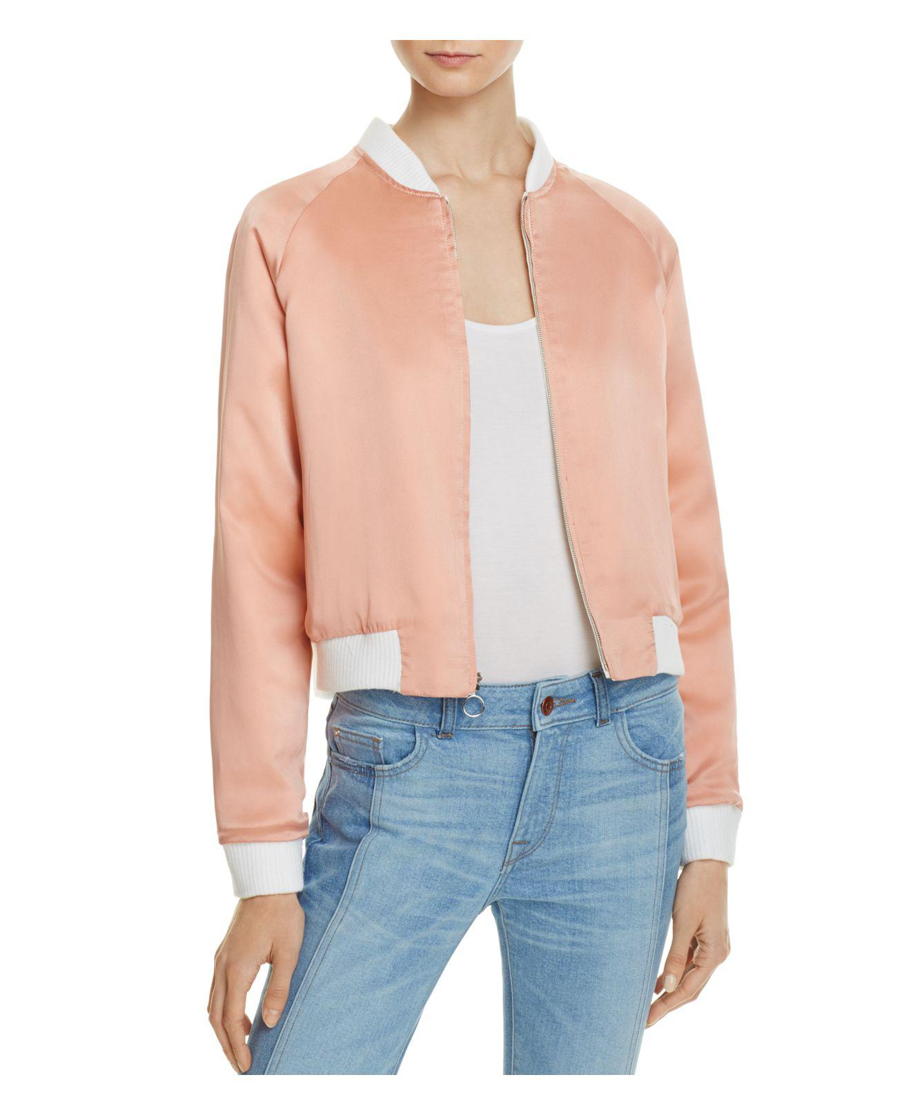 5ec876a57ac3 Elizabeth and James Willa Reversible Bomber Jacket in White - Lyst