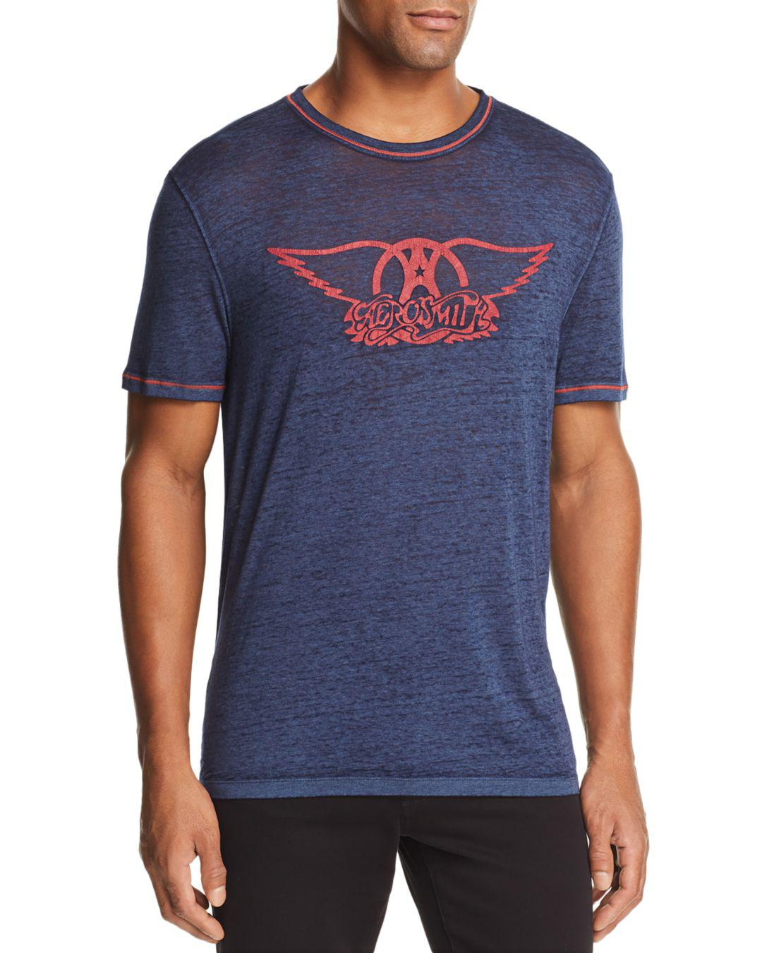 3632555b John Varvatos Aerosmith Burnout Graphic Tee in Blue for Men - Lyst