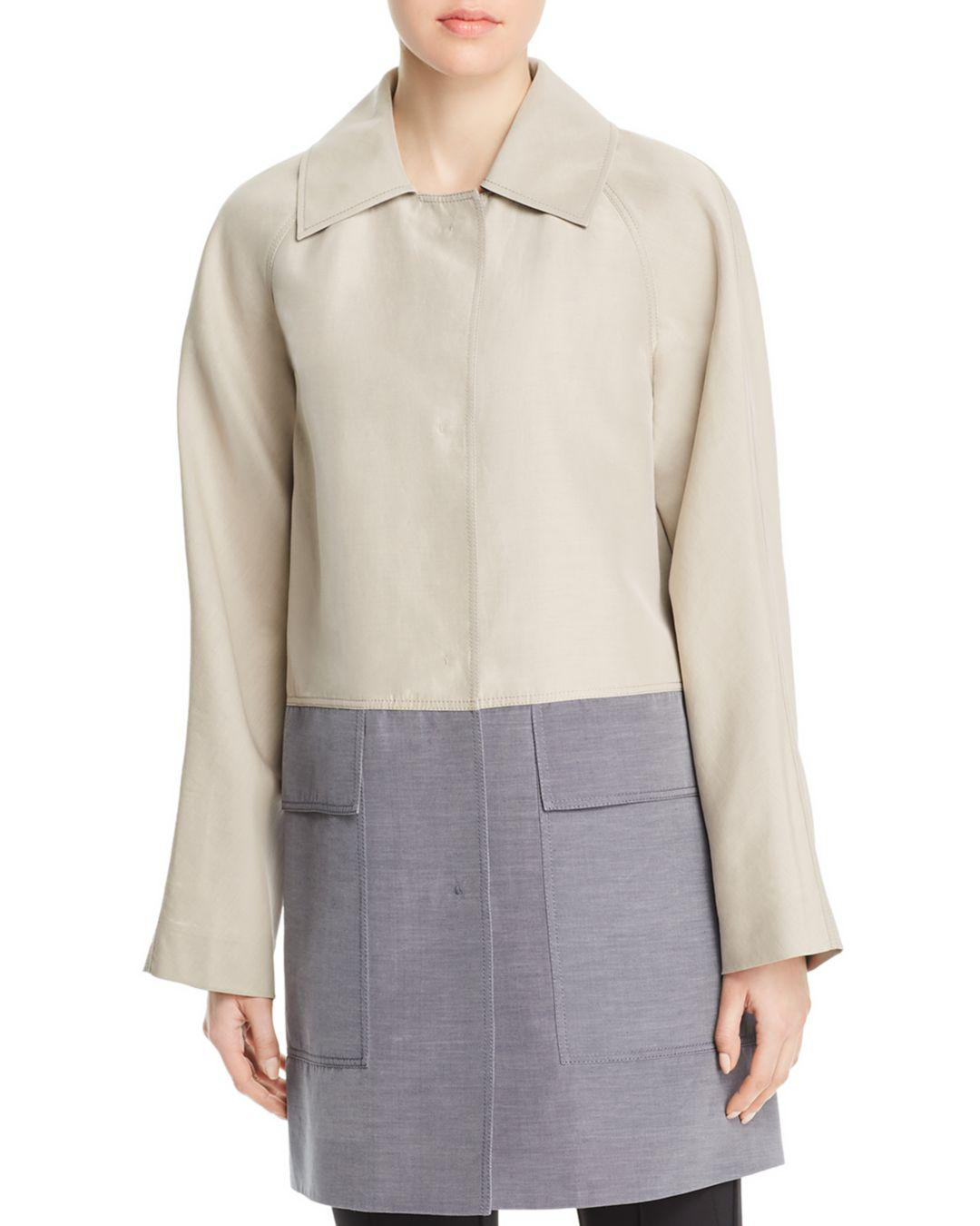 55b1ccefaed93 Lyst - Lafayette 148 New York Maryann Color-block Coat