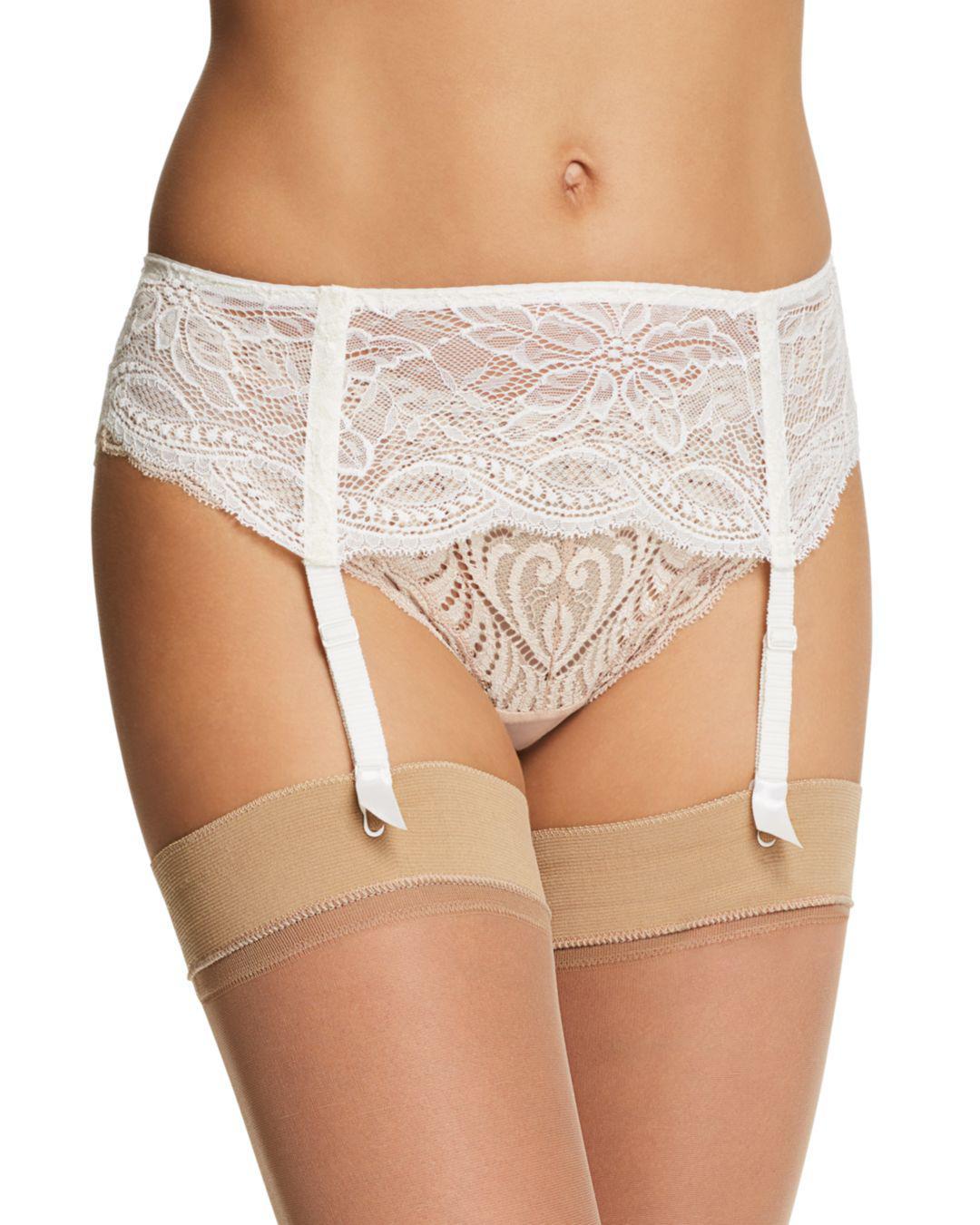 1950796639 Simone Perele Eden Lace Suspender Belt in White - Lyst