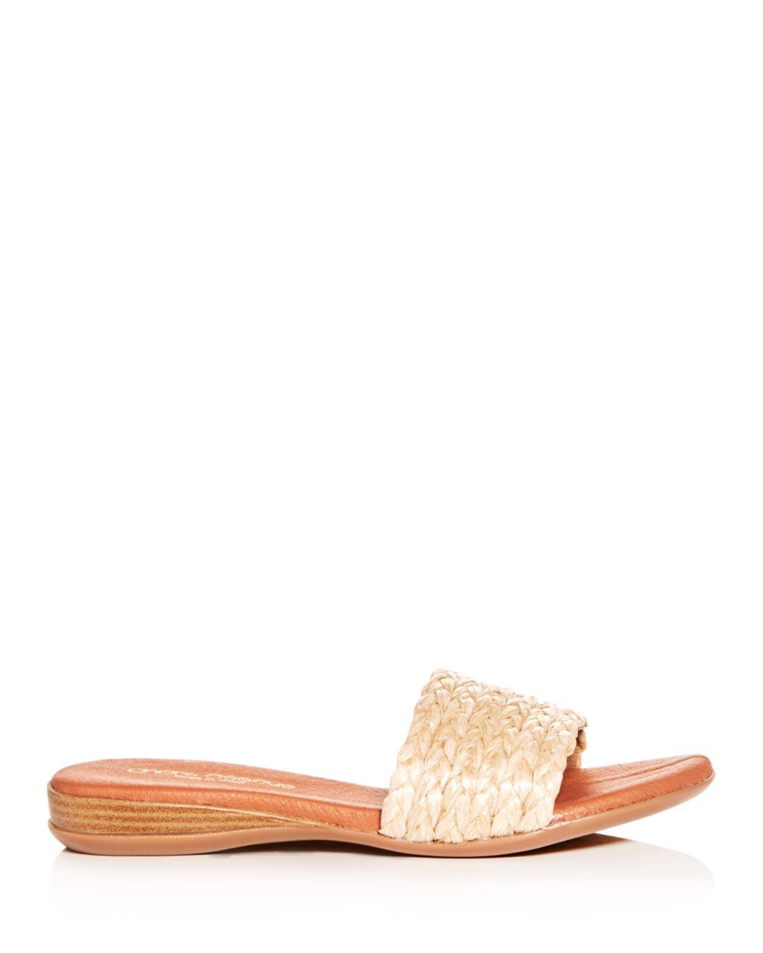 ca0a3f613102f9 Andre Assous Women s Nahala Woven Slide Sandals in Natural - Lyst