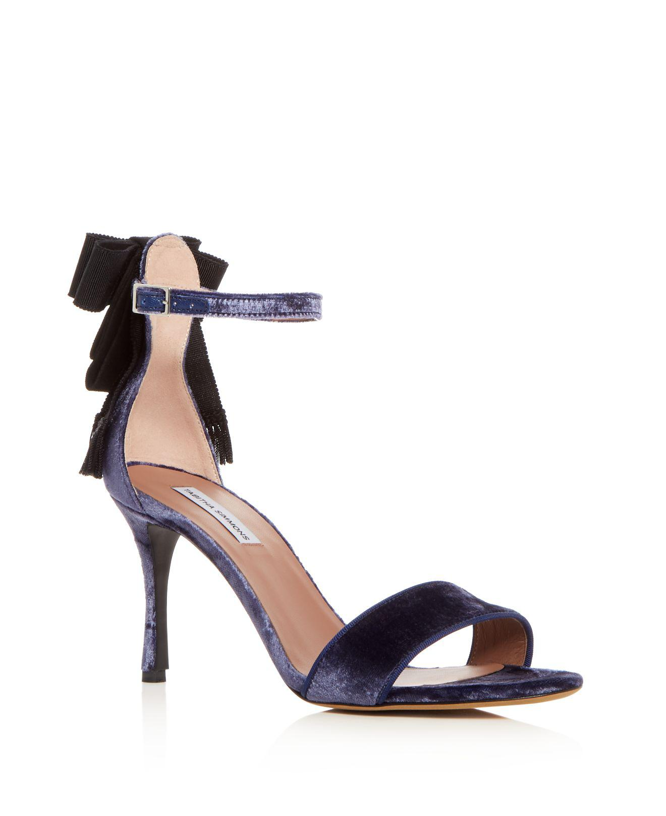 Tabitha Simmons Women's Jodie Velvet Platform Ankle Strap Sandals Sale Low Shipping Cy1oWjs8