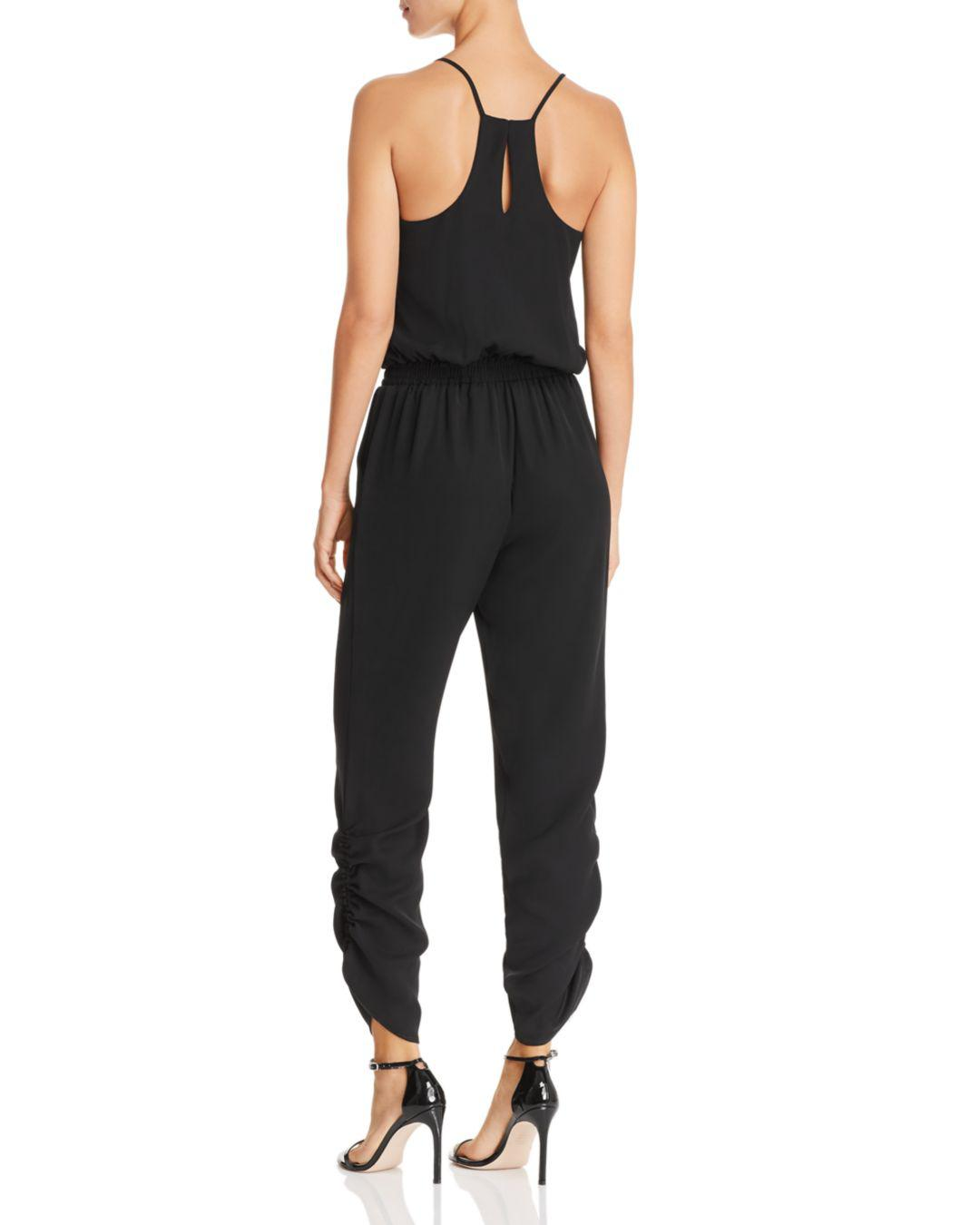ceafd8a01d2 Lyst - Amanda Uprichard Lowell Ruched Jumpsuit in Black