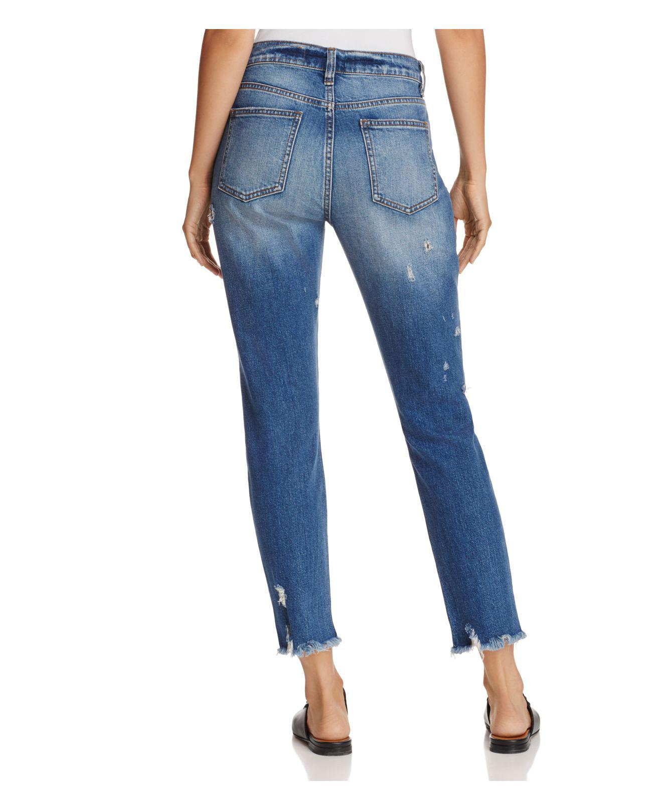 Pistola Denim Nico Distressed High-rise Skinny Jeans In Bulletproof in Blue