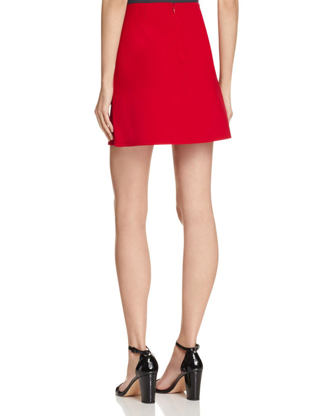 187f8c973f Theory Irenah Saxton Mini Skirt in Red - Lyst