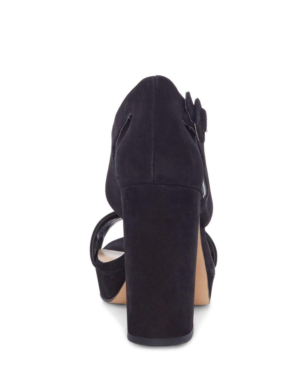 548e48be0bdc Vince Camuto - Black Women s Jayvid Suede Platform Sandals - Lyst. View  fullscreen