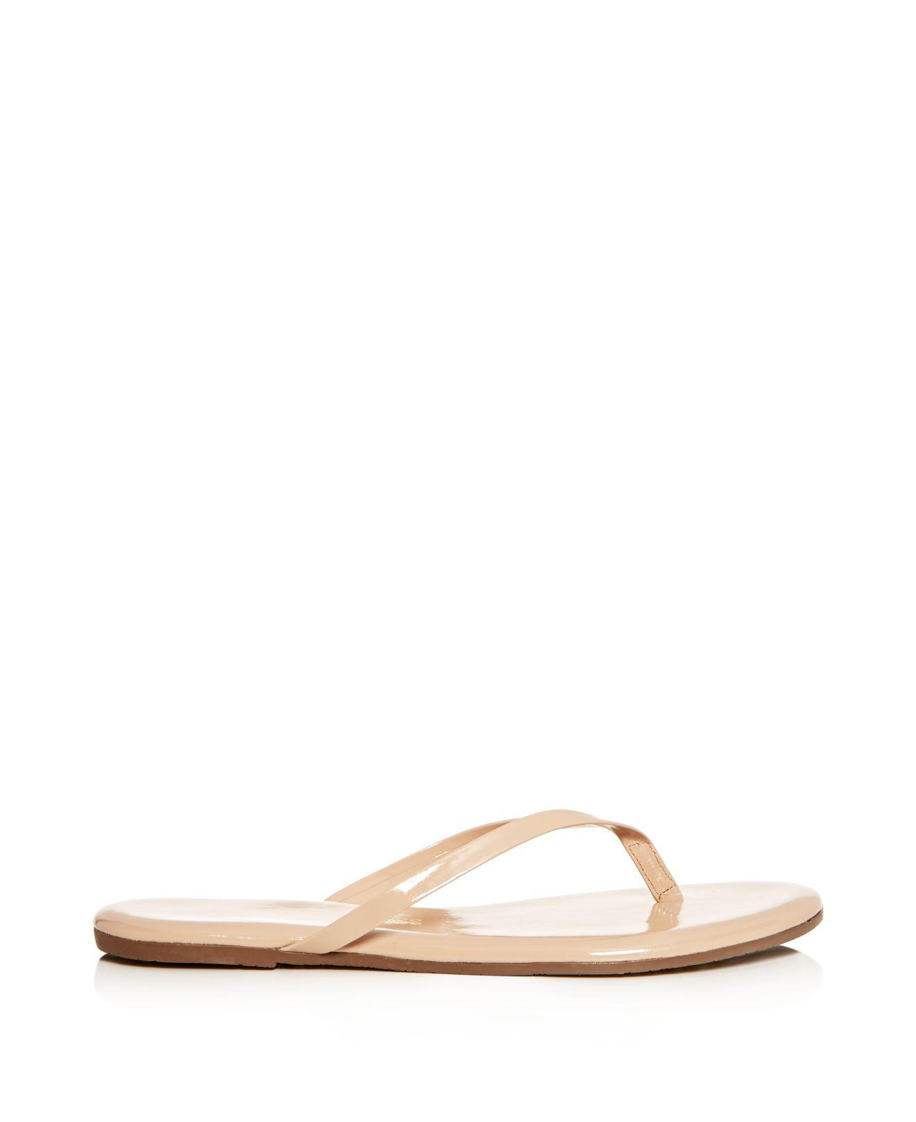 Tkees Women's Foundations Gloss Patent Leather Flip-Flops dialn1zz
