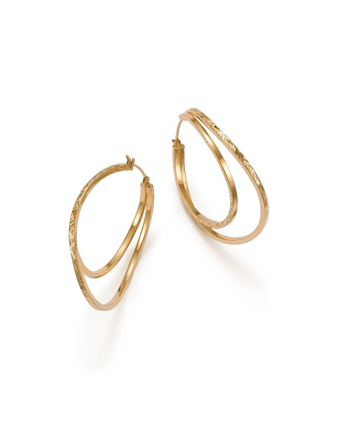 Bloomingdale S Women Metallic Twisted Double Hoop Earrings
