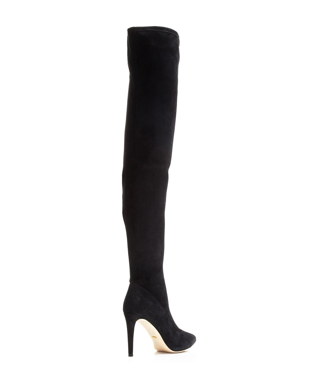 Sergio Rossi Suede Embossed Over-The-Knee Boots clearance perfect cheap price fake LxhO1x6oDf