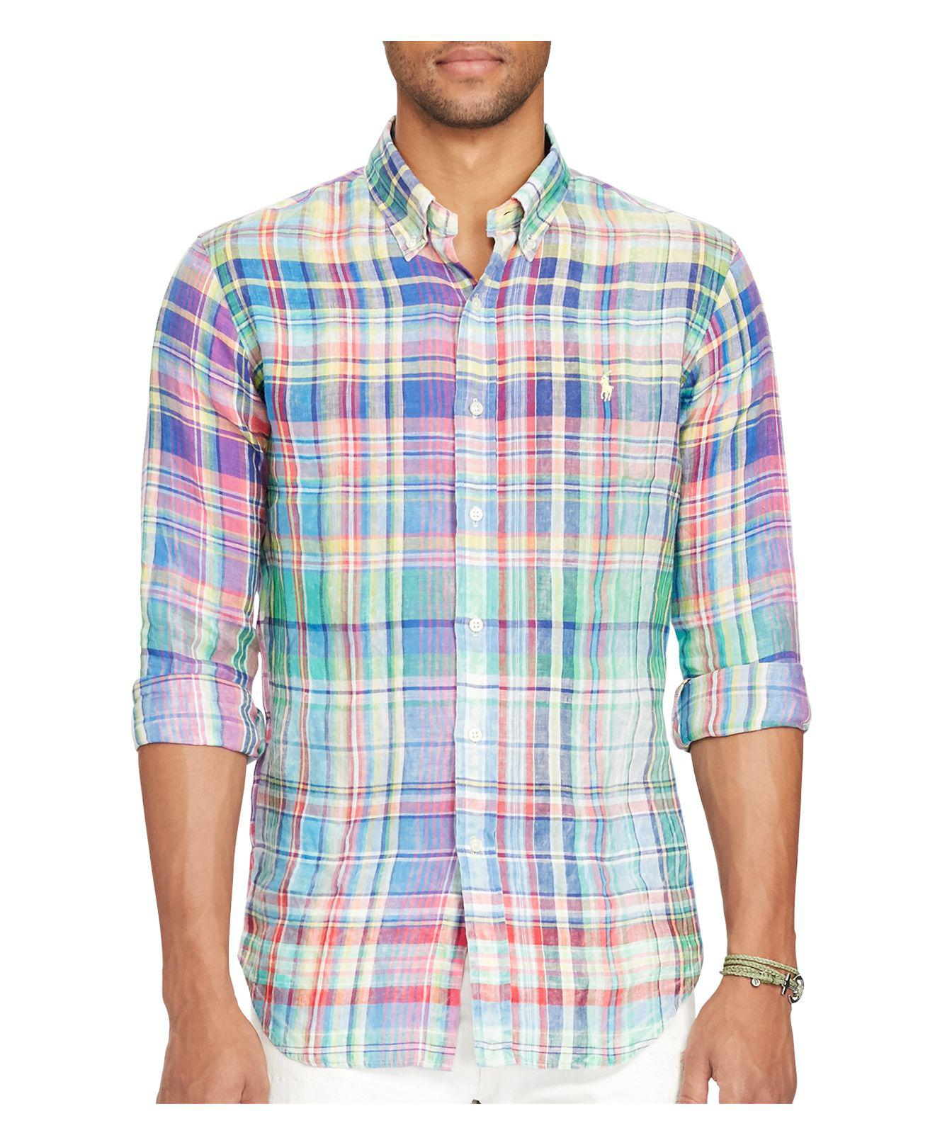 3a60f6717557 Lyst - Polo Ralph Lauren Ocean-wash Classic Fit Button-down Shirt in ...
