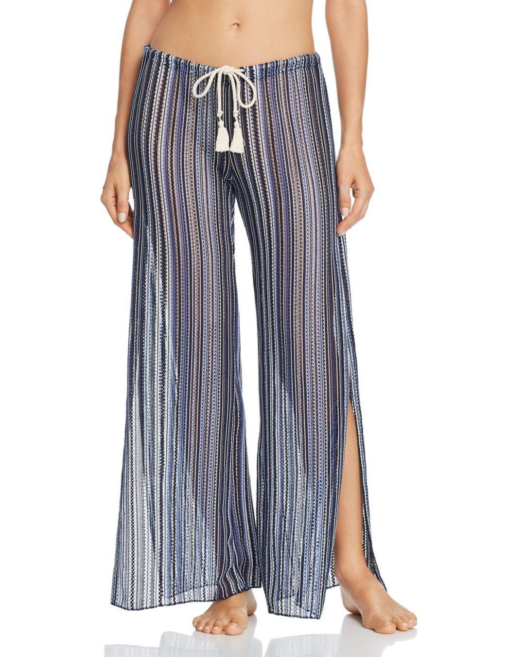 d9022851eefda Becca. Women s Blue Pier Side Striped Swim Cover-up Trousers