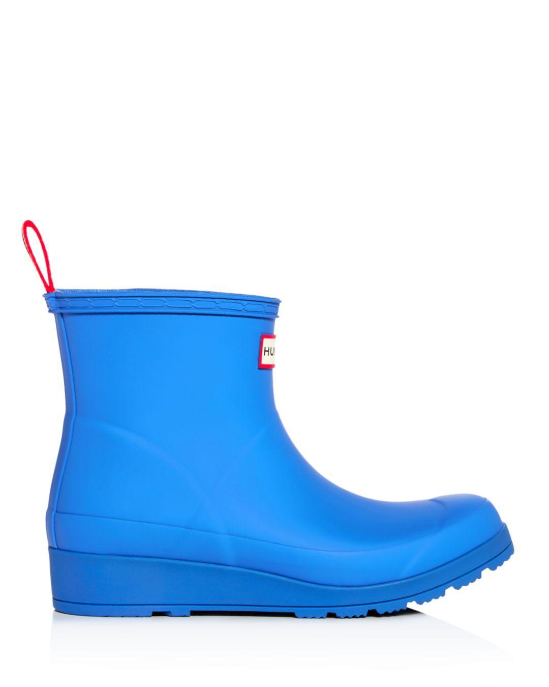 1d4d8455d HUNTER Women s Original Short Play Wedge Rain Boots in Blue - Lyst