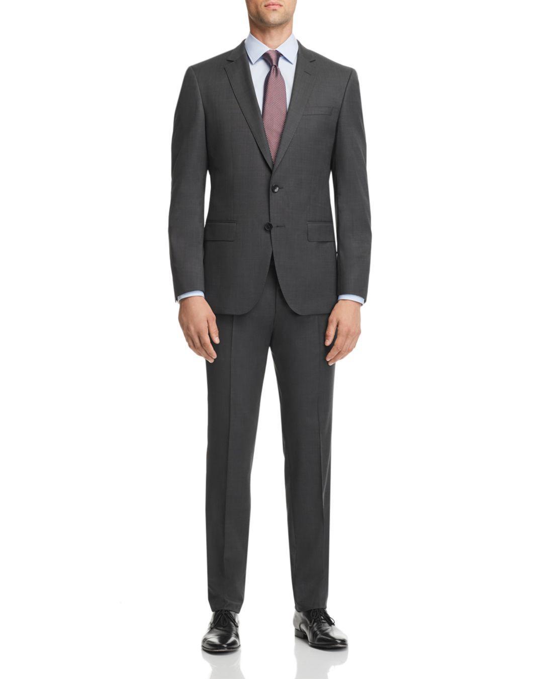 05d98653 Lyst - BOSS Boss Huge/genius Tic-weave Slim Fit Wool Suit in Gray ...